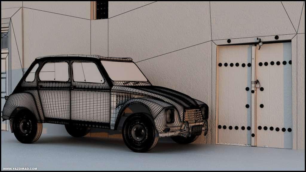 مدل سه بعدی خودروی ژیان