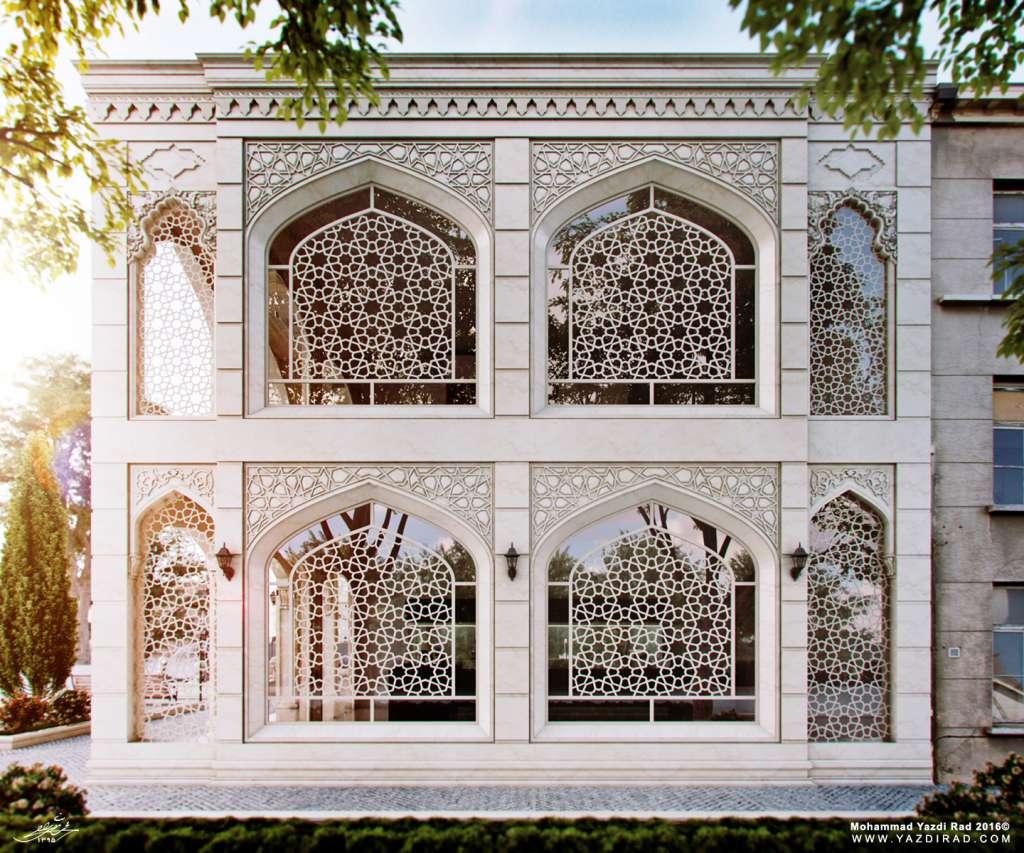 طراحی مجتمع تجاری با معماری ایرانی