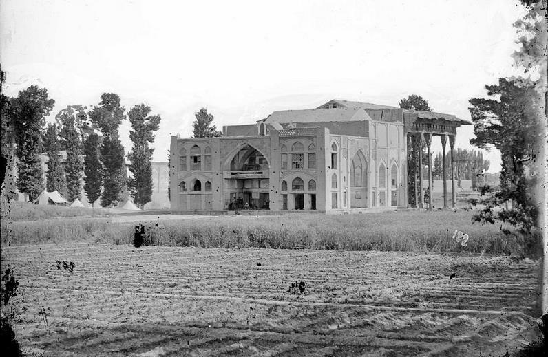 نمای جنوبی کاخ آیینه خانه اصفهان