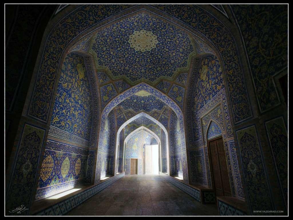 مدلسازی مسجد شیخ لطف الله